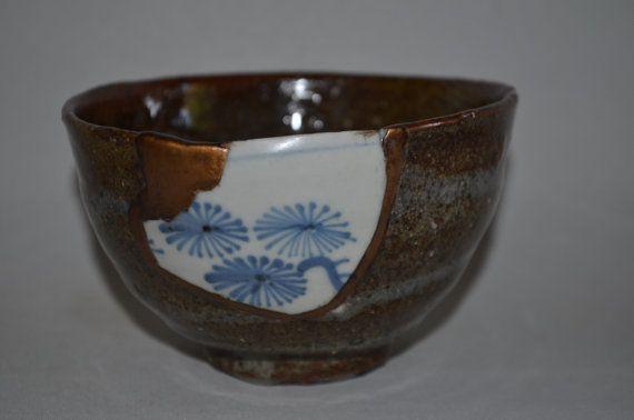Feldspar bowl 3787, wood fired, yobitsugi kintsugi