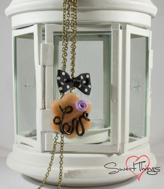 Love Necklace di SweetThingsFimo su Etsy, €15.00