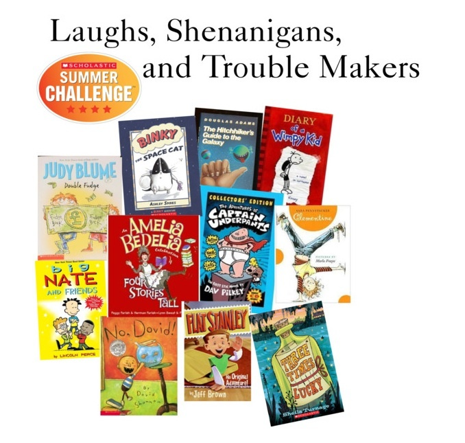 Read 11 books this summer! Check out our list of books to make you laugh! Read the books and log your minutes at Scholastic.com/summer #summerreading #Read11Books