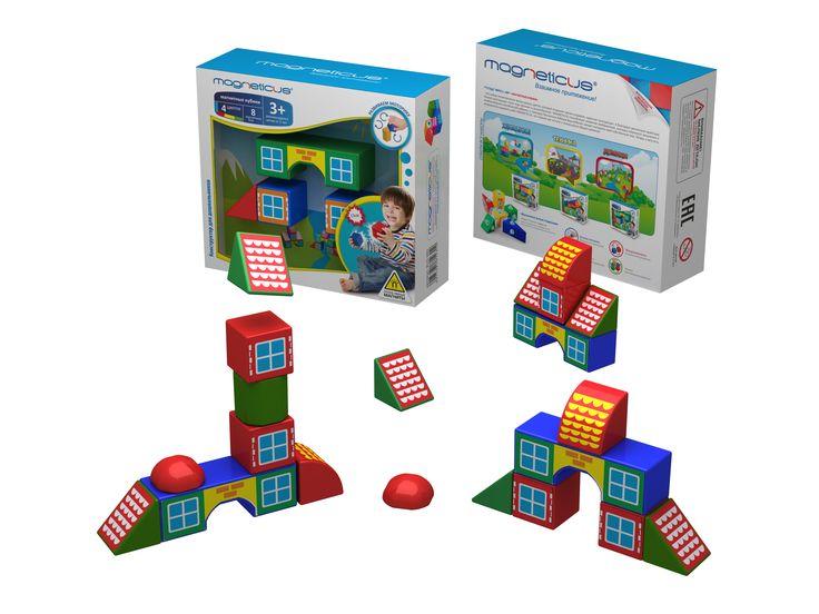 Магнитные кубики Домики (8 элементов) 3+