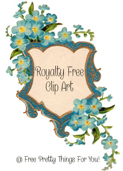 Images: Royalty Free Forget Me Not Frame - Free Pretty Things For You
