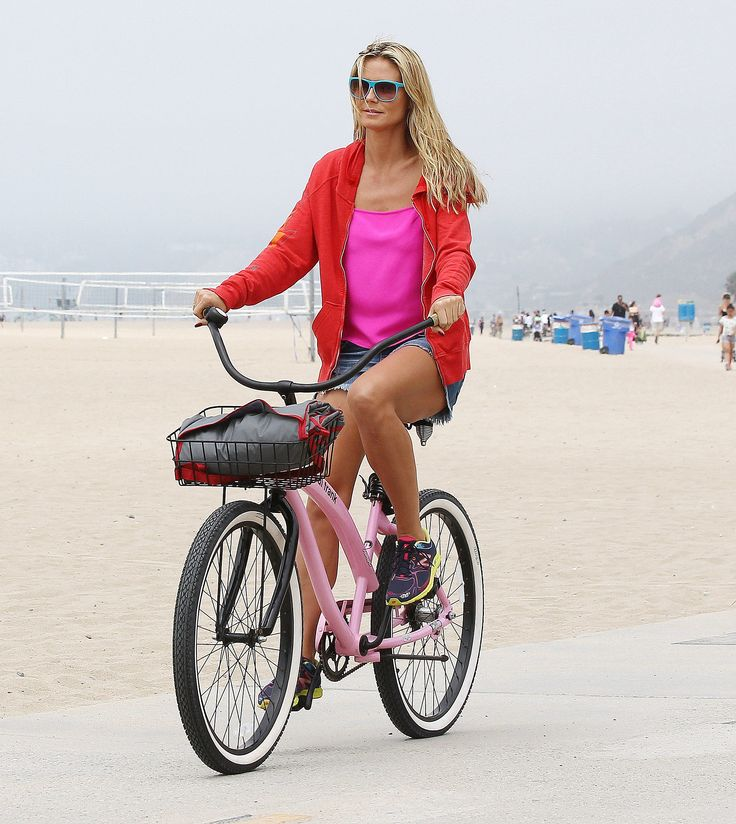 She loves riding a bike