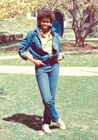 Michelle Obama in 1983 at Princeton.