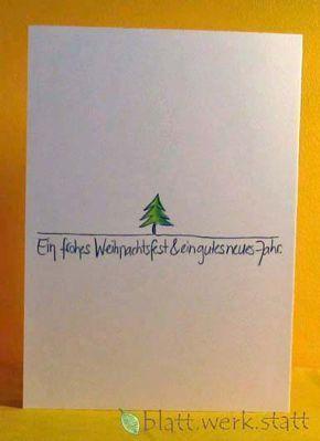 Weihnachten – Glückwunschkarte Weihnachten Advent handgemalt in. – ein Designer… – Weihnachtskarten