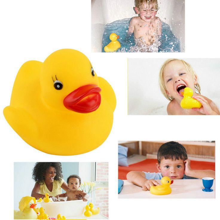 ¡ Caliente! Divertido juguetes del baño del bebé Patito De Goma Squeaky Juguete Animal Suave de Seguridad Bañera Bebé de Juguete Venta Caliente