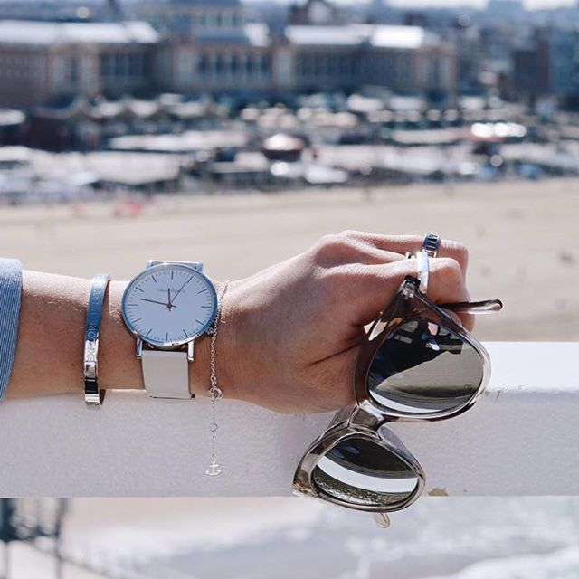 Best view from the top  So in love with this @threadetiquette watch! Ps. pretty sunnies are from @lespecs  |  #threadetiquette #lespecs #myjewellery #jewellery #sunnies #design #palm #sand #sea #salt #beachday #loveit #saturday #sun #needcoffee #early #sunnyday #bluesky #spring #love #view