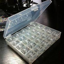 1 Set di Plastica Trasparente 25 Singole Tombolo Macchina Da Cucire Rocchetti di Filo di Stoccaggio Per La Casa Cucito Spedizione Gratuita(China (Mainland))
