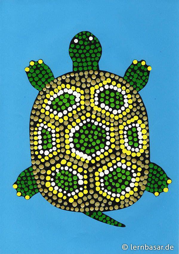 exotische schildkröte  kunst für grundschüler