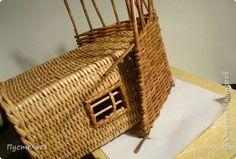 Поделка изделие Плетение Крыша дома моего Бумага газетная Трубочки бумажные фото 9