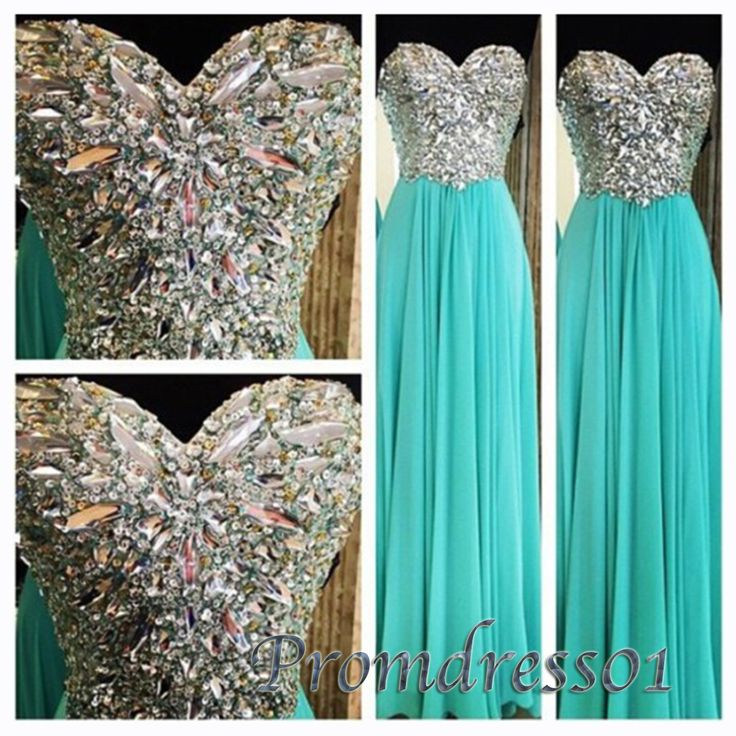 Sweetheart dress for teens, chiffon prom dress, ball gown, light green beaded junior prom dresses www.promdress01.c... #promdress #coniefox #2016prom
