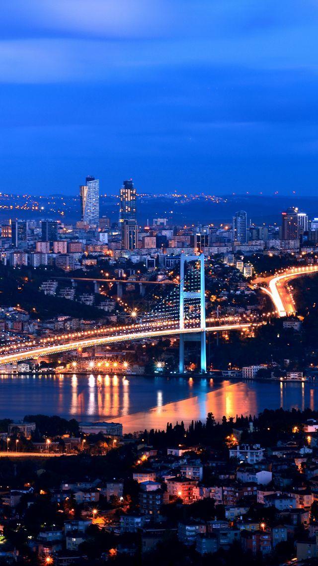 Turkey Istanbul Night 4k Vertical Istanbul Photography Turkey Travel Istanbul Istanbul Turkey Photography Cool night view wallpaper
