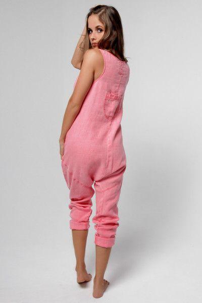 53d642d8dbd1 100% Linen Drop Crotch Jumpsuit in Black