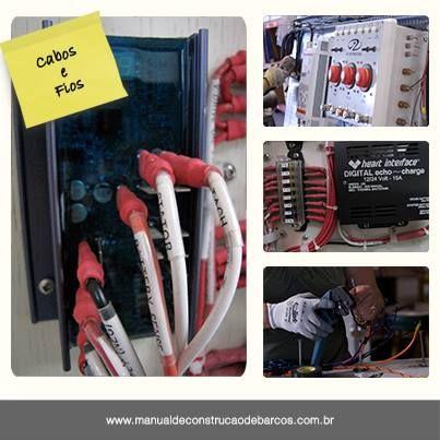 """""""Para proteção contra uma sobrecarga na instalação elétrica, deve-se prestar atenção aos tipos de cabos utilizados. O dimensionamento dos cabos elétricos é feito de acordo com o comprimento e a amperagem do sistema usado a bordo.""""  Entenda melhor sobre os cabos e fios de sua embarcação lendo o livro Manual de Construção de Barcos.   www.manualdeconstrucaodebarcos.com.br  #JorgeNasseh #DicaDoMCB #Elétrica #Barcos"""