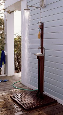 Shower In The Outdoors, Just Connect Any Hose