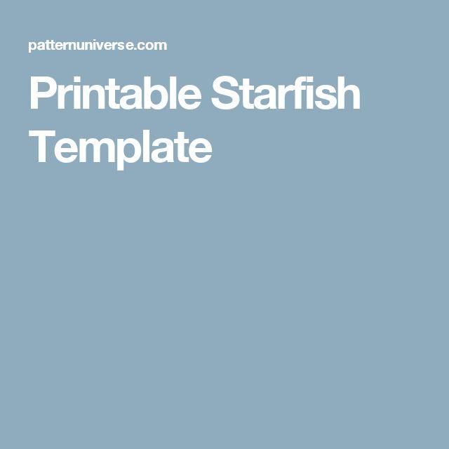 Printable Starfish Template