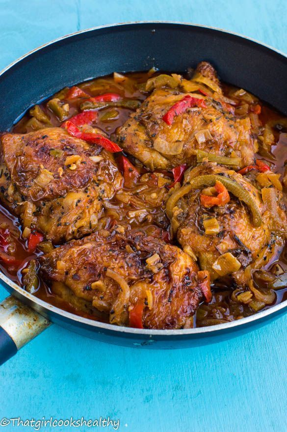 Jamaican brown stew chicken (paleo and gluten free)