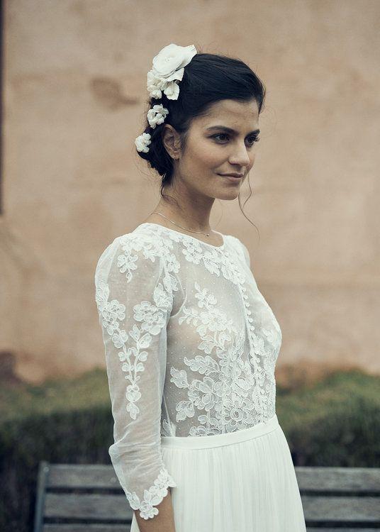 vestidos de novia laure de sagazan 2019: sencillos, elegantes y más