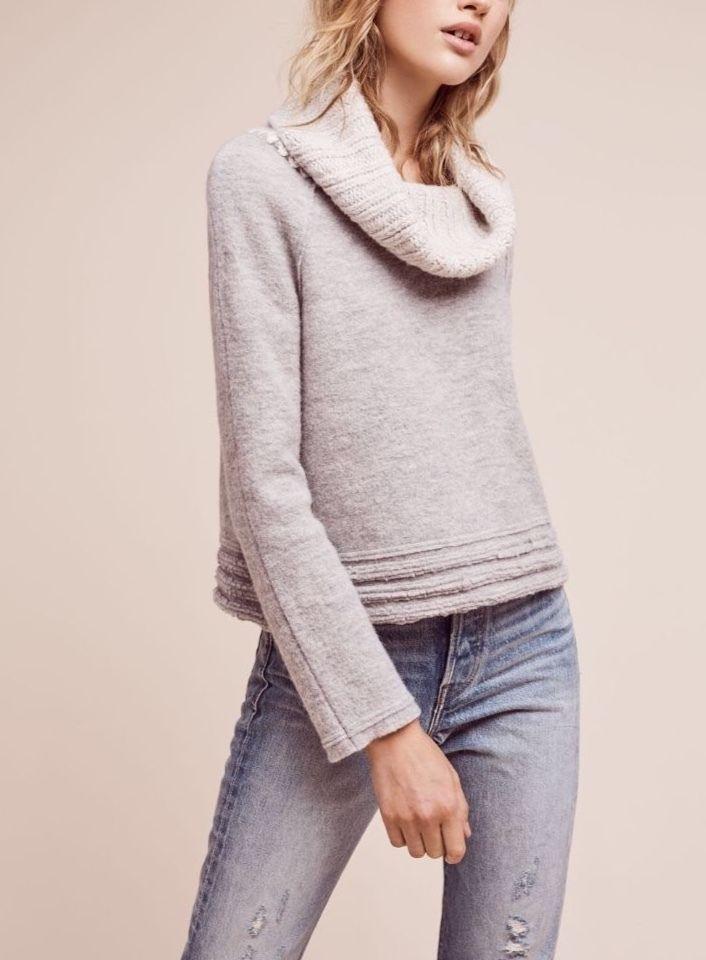 NEW Anthropologie Sweater Sleeping on Snow Grey Free Shipping SP Meribel Cowl  | eBay