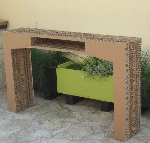 table console en carton alvéolaire