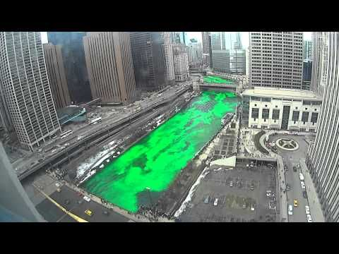 "Watch this timelapse of the Chicago River as it gets ""greened"""