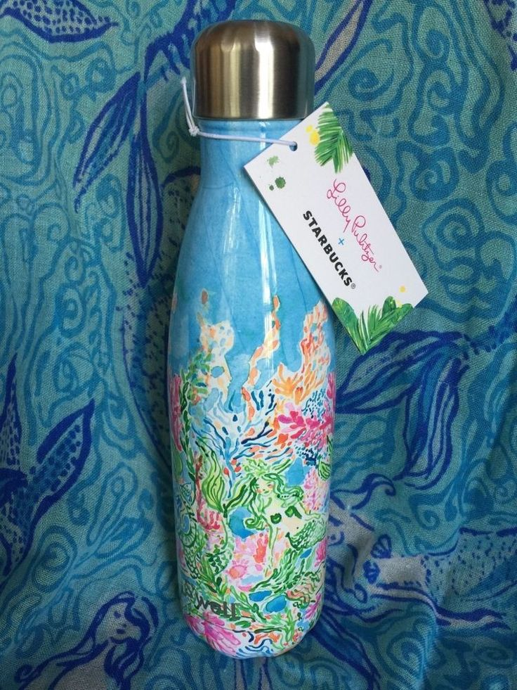Nwt Starbucks Lilly Pulitzer S 39 Well Bottle Sirens Calling