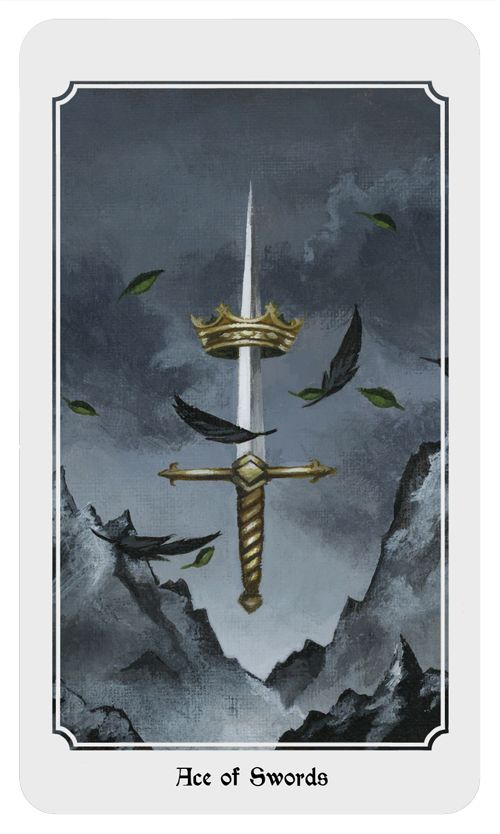 Ace of Swords. From the Anima Mundi tarot deck.