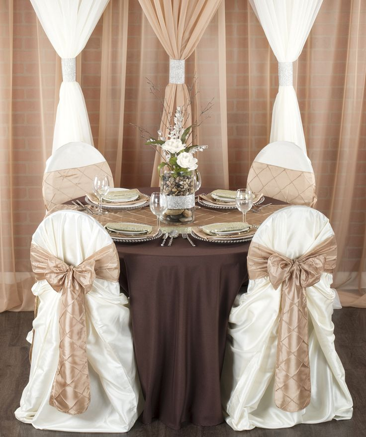Brown And Gold Wedding Ideas: 7 Go-To Linens For A Chocolate Brown Wedding