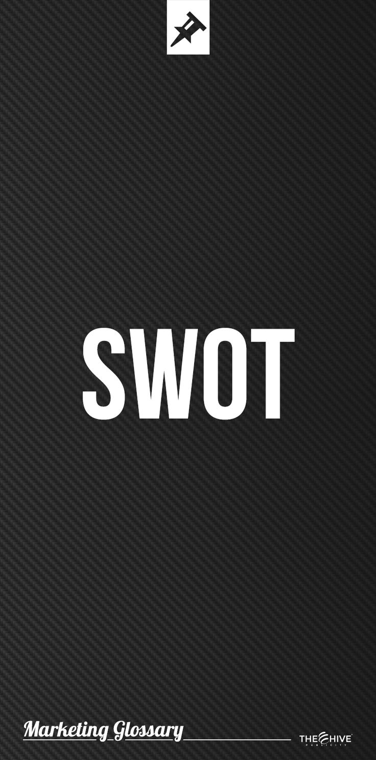 A SWOT analysis is an acronym for Strengths, Weaknesses, Opportunities and Threats.   It is a method used to assess the Strengths, Weaknesses, Opportunities, and Threats involved in a project or a business initiative.