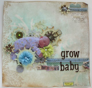 Grow baby...gears symbolise the baby growing while he sleeps..