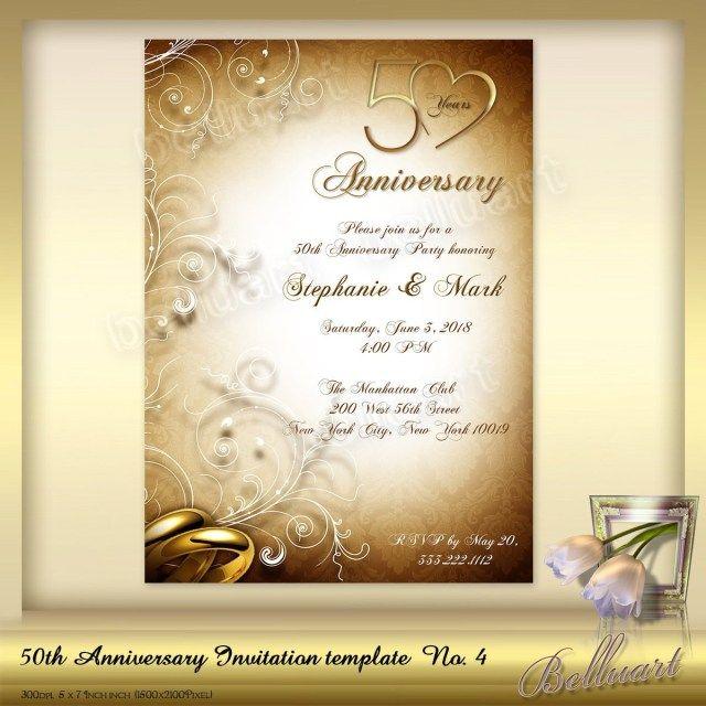 27 Pretty Photo Of 50th Wedding Anniversary Invitations Regiosfera Com 50th Anniversary Invitations Wedding Anniversary Invitations Anniversary Invitations