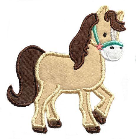 Horse Applique Embroidery Design Instant Download by boutiquefonts