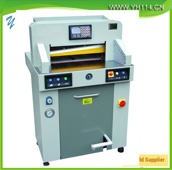 Source 2015 heavy Hydraulic program-controlled electric paper cutter machine in china on m.alibaba.com