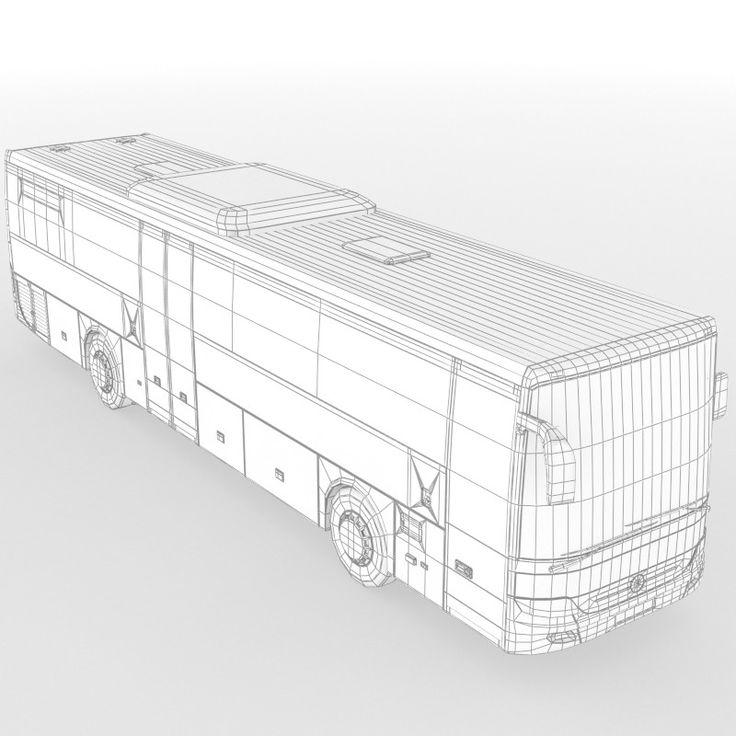 mercedes benz integro bus 3d max