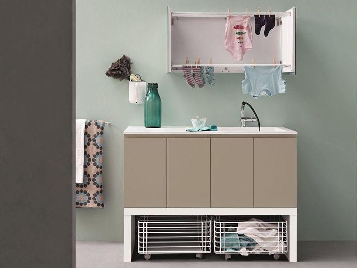 Cesto para roupa suja de metal ACQUA E SAPONE Coleção Acqua e Sapone by Birex | design Monica Graffeo