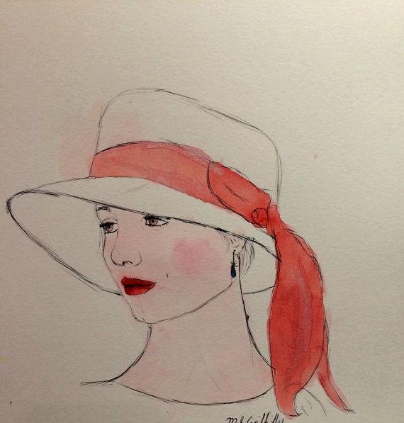 Day Dreaming  Original Watercolour by Madison by PoppingMouse