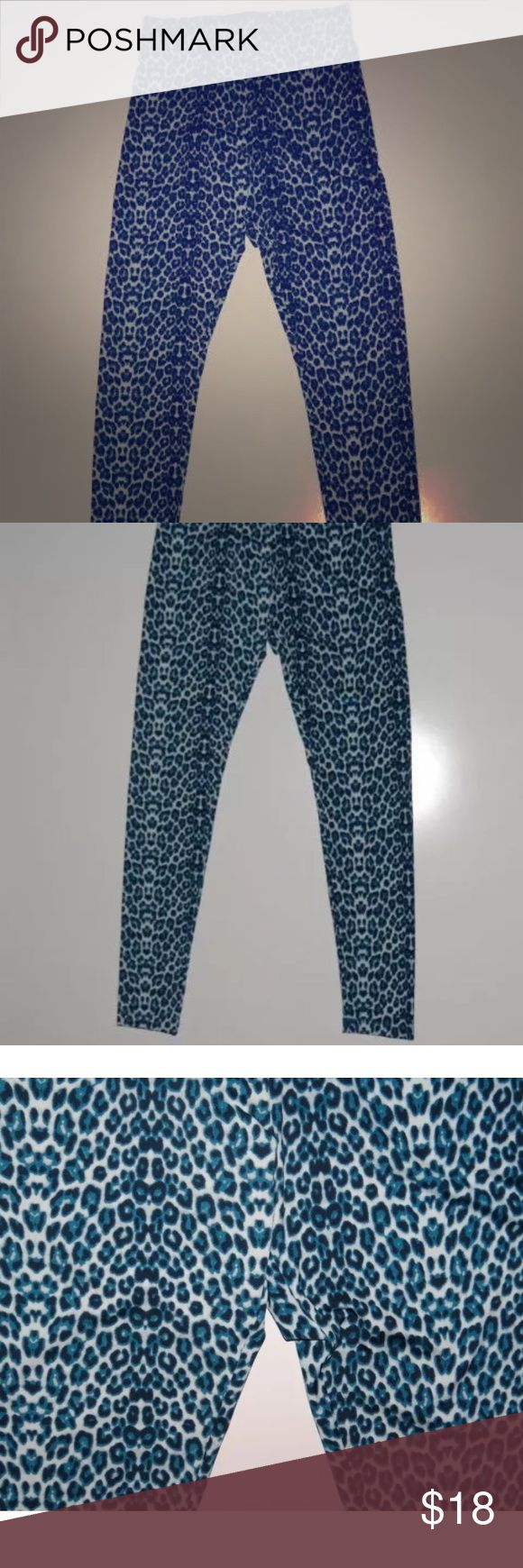 Kardashian kollection leggings xl In perfect condition size xl from the kardashian kollection. Leggings with blue and black animal print Kardashian Kollection Pants Leggings