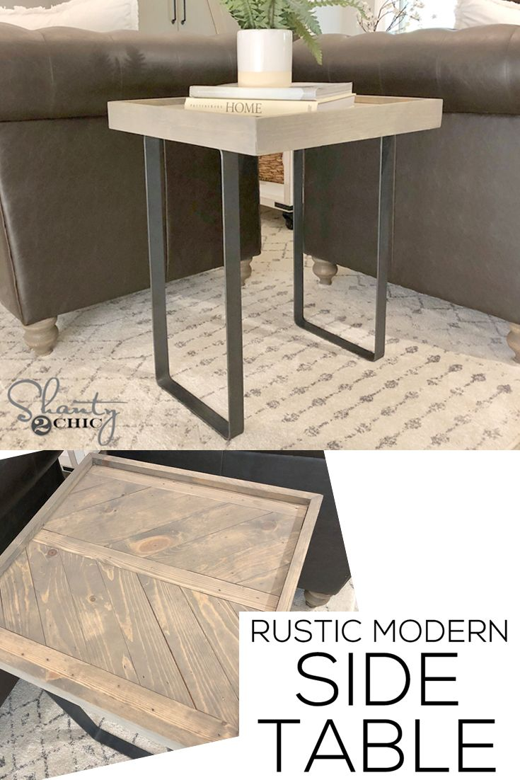 Diy Rustic Modern Side Table By Shanty2chic Rustic Modern Side