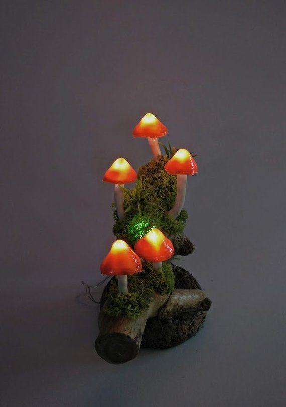 Leuchtpilze Pilzleuchte Tischlampe Pilz Dekoration Nachtlicht