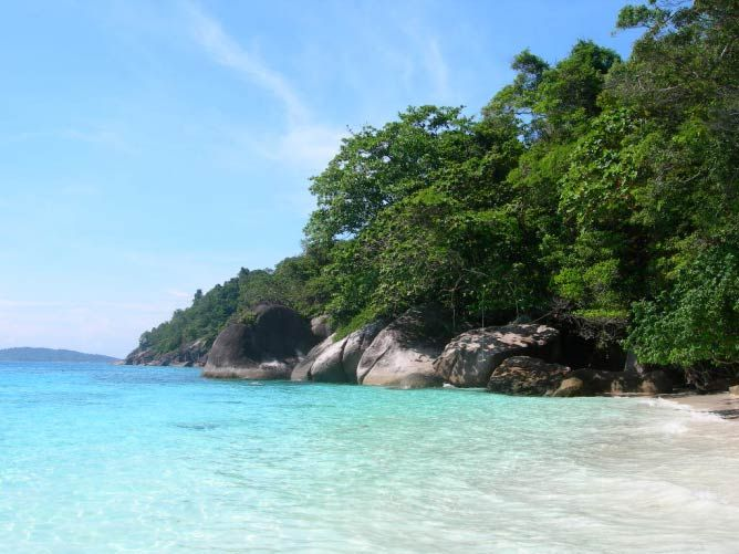 Similan Islands, Thailand - crystal clear waters, white sandy beaches
