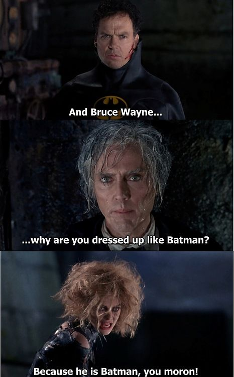 Batman Returns - Kind of glad this guy fried. After this line, he deserved it.