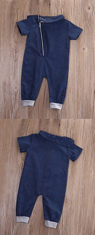 f36eb46fe7f6 Stylesilove Infant Toddler Stylish Blue Jean Baby Overall Romper ...