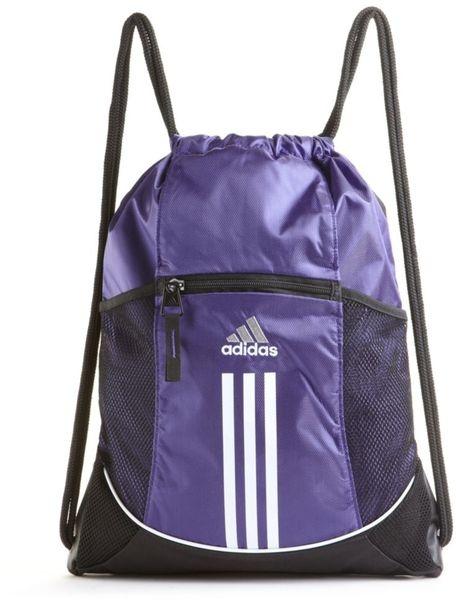 Adidas Drawstring Bag Purple