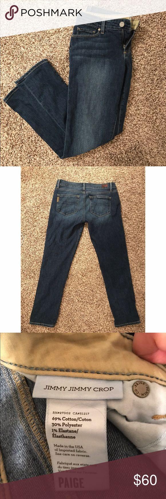 Paige Jimmy Jimmy Crop Jeans Paige Jimmy Jimmy crop jeans. Dark denim, size 25. Excellent condition! Paige Jeans Jeans Ankle & Cropped