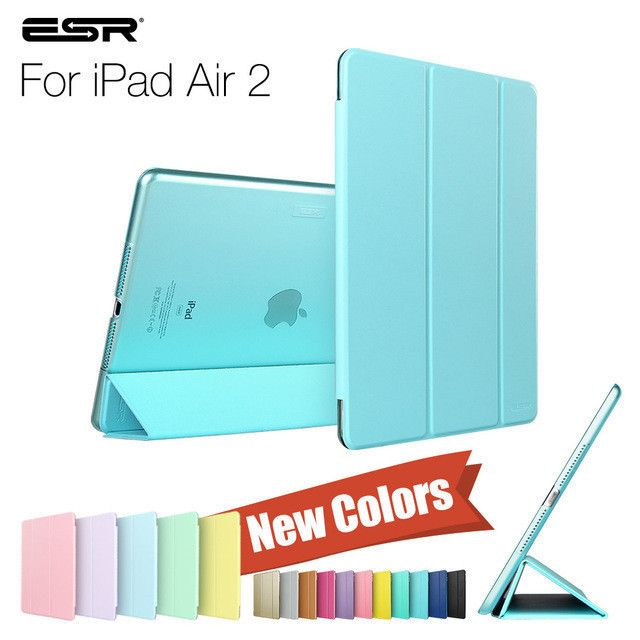 Case for iPad Air 2, ESR Yippee Color PU+Transparent PC Back Ultra Slim Light Weight Scratch-Resistant Case for iPad Air 2 6 Gen