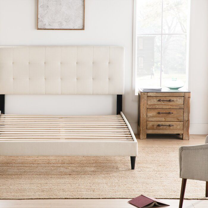 Elmina Upholstered Platform Bed In 2020 Upholstered Beds