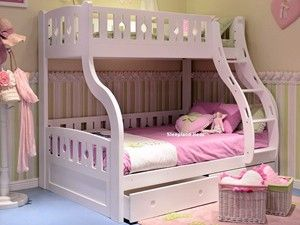 Luxury Solid Wood White Triple Sleeper Bunk Beds 795 No Matresses