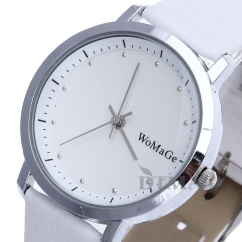 Women-Fashion-Cool-Sport-Casual-Quartz-Leather-Clock-Analog-Wrist-Watch-White
