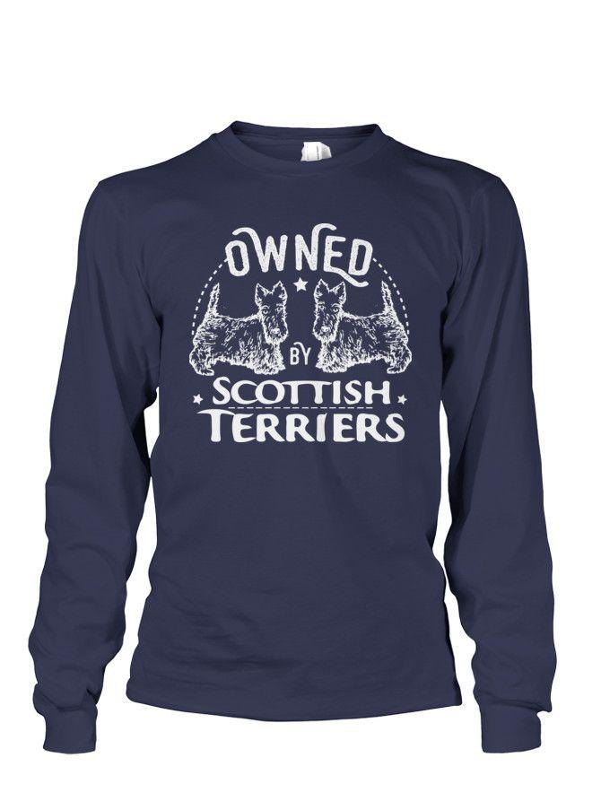 Owned by my Scottie dogs!   My heart belongs to a scottish terrier TeeChip.com/lovemyscott