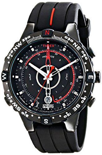 Just arrived Timex Men's T2N720 Intelligent Quartz Tide Temp Compass Black Silicone Strap Watch