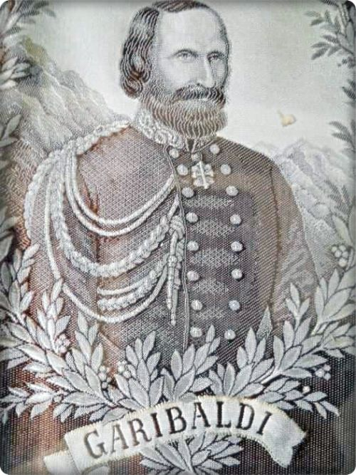Buy Very Rare and Original, Framed Embroidered Silk of Italian General Giuseppe Garibaldi. Switzerland for R4,000.00